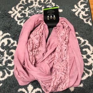 NWT pink light Infinity scarf